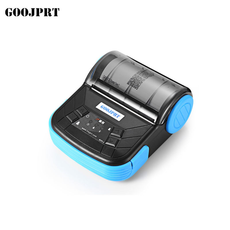 80mm Smartphone Portable Bluetooth Printer Stored Humidity 5 - 95% For Cashier System