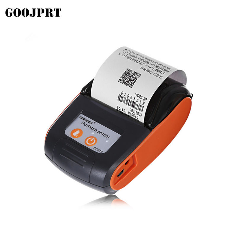 Small Bluetooth Thermal Printer , Wireless Receipt Printer Android / IOS / Windows