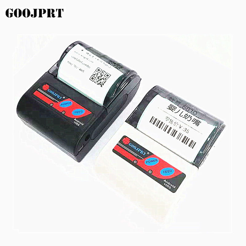 12V 1A Power Thermal Barcode Printer , USB Label Printer Bluetooth Host Function