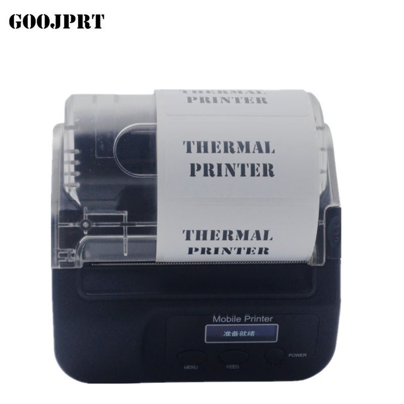 58mm Paper Width Thermal Label Printer 103*57*57mm Dimension For Parking