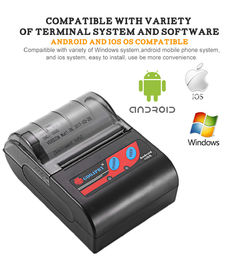 China Black And White Bluetooth Mobile Printer , Compact Portable Printer For Supermarket factory