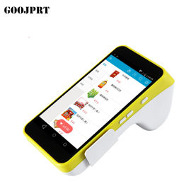 China Restaurant Mobile Pos Terminal 90mm/sec Black Printing Speed Android 5.1 PD factory